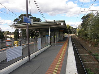 Syndal railway station railway station in Glen Waverley, Melbourne, Victoria, Australia