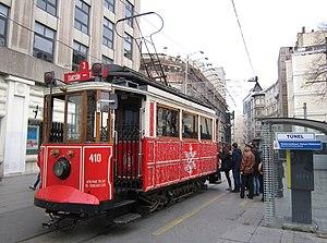 Istanbul nostalgic tramways - Tünel terminus of the T2 line