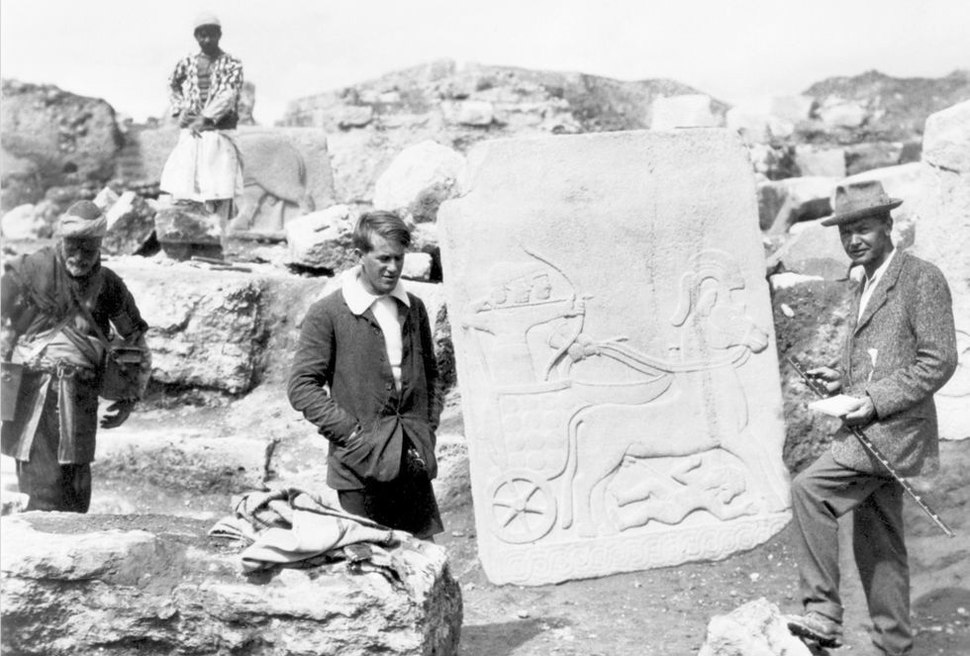 T. E. Lawrence and L. Woolley at Carchemish (1913)