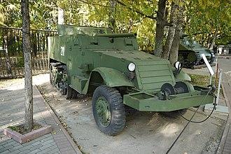 M3 Half-track - A T48 57 mm GMC / SU-57 in the Museum of the Great Patriotic War, Poklonnaya Hill Victory Park