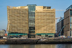 THE CENTRAL BANK OF IRELAND (NEW HEADQUARTER BUILDING ON NORTH WALL QUAY)- ALONG BOTANIC AVENUE (JANUARY 2018)-135337 (39605114602).jpg
