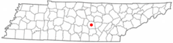 Location in Warren County and the state of Tennessee.