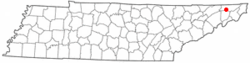 Location of Spurgeon, Tennessee