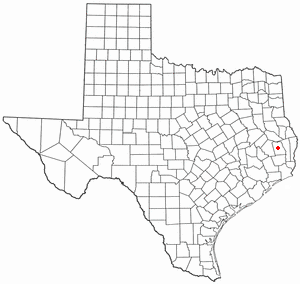 Woodville, Texas - Image: TX Map doton Woodville