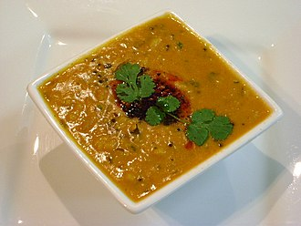 Tempering (spices) - A dal tadka, which includes chaunk