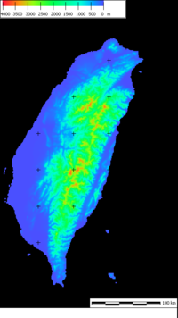 Px Taiwanfromsrtm on Taiwan View