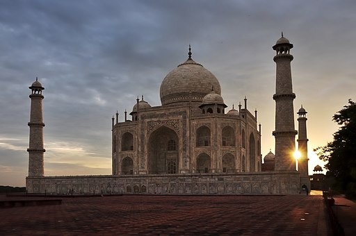 Taj Mahal Tomb at sunrise