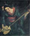 TakehisaYumeji-1931-A Woman Playing the Shamisen.png