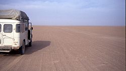 Car in the Tanezrouft in Mali