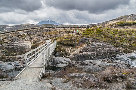 Taranaki Falls Walking Track in Tongariro National Park in Manawatu-Wanganui Region, North Island of New Zealand