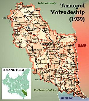 Tarnopol Voivodeship - Tarnopol Voivodeship until September 17, 1939