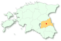 Location of Tartu