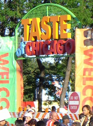 Taste of Chicago - One of the entrances to the Taste of Chicago, 2007