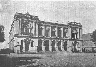 1906 Valparaíso earthquake - Teatro de la Victoria before the earthquake