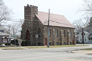 Saint Elizabeth's Church (Tecumseh, Michigan) - The church in early springtime