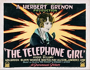 The Telephone Girl (1927 film) - Lobby card for the film
