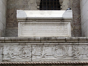 Gemistus Pletho - His tomb on a side of Tempio Malatestiano, Rimini.