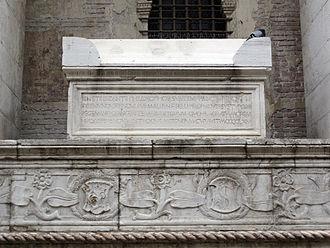 Gemistus Pletho - His tomb on a side of Tempio Malatestiano, Rimini.
