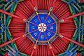 Temple of Marquis Wu (Wuzhang Plains) pavilion ceiling1 2016 September.jpg