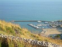Il porto canale oggi, visto dal tempio di Giove Anxur