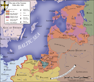 State of the Teutonic Order - Teutonic state in 1466