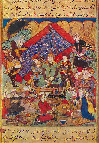 History of Uzbekistan - Timur feasts in Samarkand