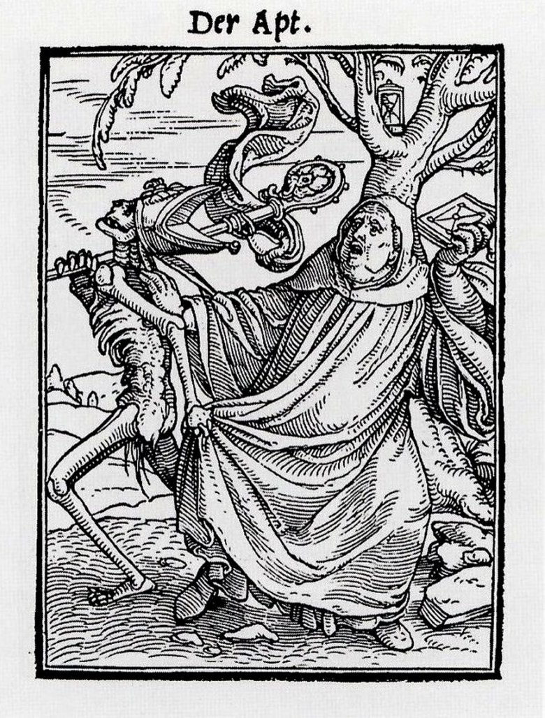 The Abbot, from The Dance of Death, by Hans Holbein the Younger