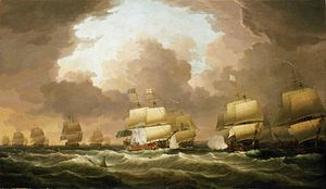 Dominic Serres - Image: The Battle of Quiberon Bay