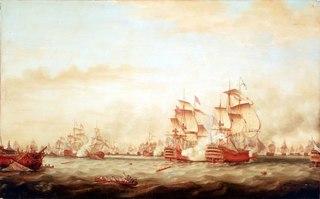 The Battle of the Saints, 12 April 1782: surrender of the 'Ville de Paris'