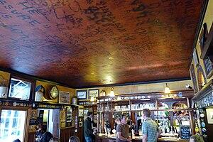 The Eagle, Cambridge - The RAF Bar ceiling with graffiti of World War II airmen