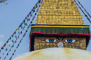 Boudhanath - The Eyes of Boudhanath stupa