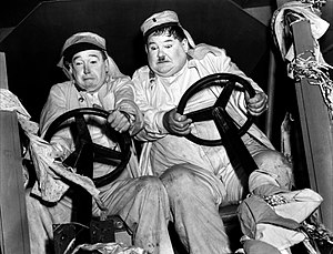 Laurel and Hardy - Laurel and Hardy in the 1939 film The Flying Deuces