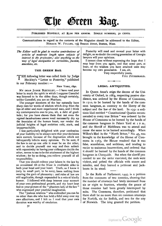 Page:The Green Bag (1889–1914), Volume 04 pdf/264