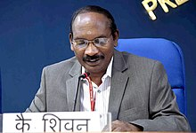 The Indian Space Research Organisation (ISRO) Chairman, Dr. K. Sivan addressing a press conference on issues related to Department of Space, in New Delhi on August 28, 2018.JPG