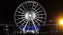 The Liverpool wheel at night.JPG
