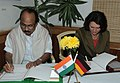 The Minister of State for Agriculture, Consumer Affairs, Food & Public Distribution, Prof. K.V. Thomas and the Federal Minister of Food, Agriculture and Consumer Protection, Germany.jpg