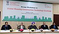 The Minister of State for Housing and Urban Affairs (IC), Shri Hardeep Singh Puri delivering the keynote address at the Global Housing Construction Technology Challenge-Design Workshop, in New Delhi.jpg