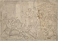 The Month of June, Shearing Sheep (recto); Couples Drinking Wine, The Month of October (verso) MET DP801447.jpg