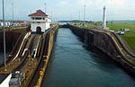 The Panama Canal Locks by D Ramey Logan.jpg