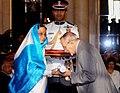 The President, Smt. Pratibha Devisingh Patil presenting Padma Vibhushan Award to Shri Ebrahim Hamed Alkazi at the Civil Investiture Ceremony-I, at Rashtrapati Bhavan, in New Delhi on March 31, 2010.jpg