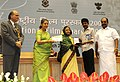 """The President, Smt. Pratibha Devisingh Patil presenting the Award for Best Direction to Shri Bala for Tamil film """"Naan Kadauul"""", at the 56th National Film Awards function, in New Delhi on March 19, 2010.jpg"""