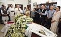 The Prime Minister, Shri Narendra Modi paying homage at the mortal remains of the former Lok Sabha Speaker, Shri P.A. Sangma, in New Delhi (1).jpg