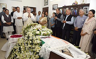 P. A. Sangma - Prime Minister Narendra Modi and cabinet members paying their respects at Sangma's wake