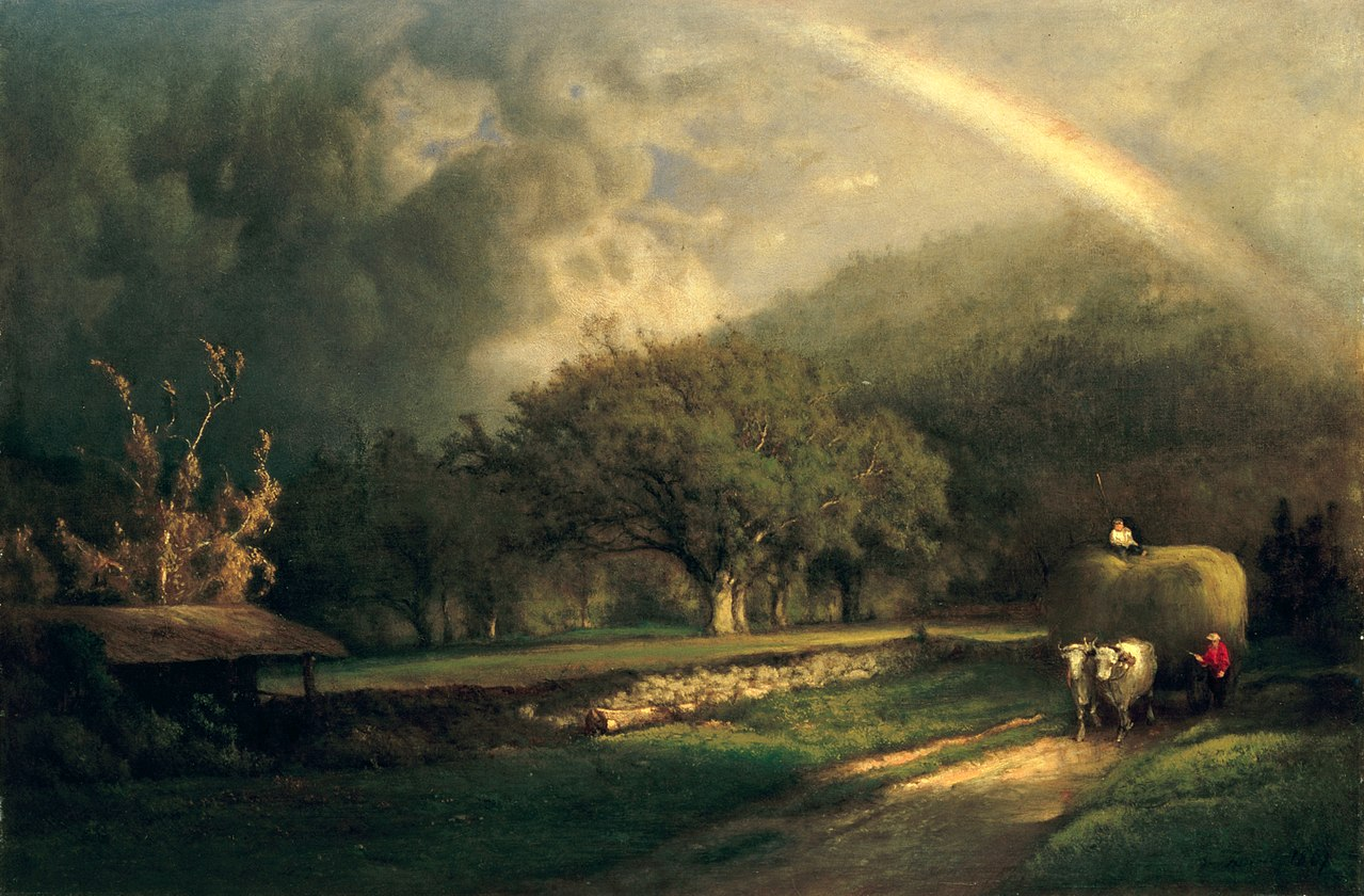 File the rainbow in the berkshire hills by george inness for The berkshire