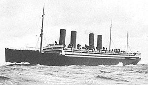 SS Kronprinzessin Cecilie (1906) - Image: The SS Kronprinzessin Cecilie at sea in circa 1910