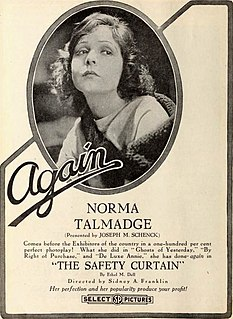 <i>The Safety Curtain</i> 1918 film by Sidney Franklin