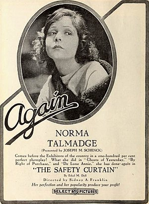 The Safety Curtain - Advertisement