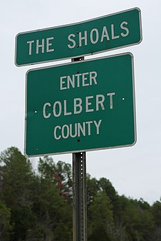 The Shoals Sign - Colbert County Alabama (44655016522).jpg