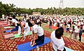The Union Minister for Railways, Coal, Finance and Corporate Affairs, Shri Piyush Goyal performing Yoga, on the occasion of the 4th International Day of Yoga 2018, in Noida, Uttar Pradesh on June 21, 2018 (3).JPG