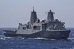 The amphibious transport dock ship USS San Antonio (LPD 17) steams through the Red Sea June 16, 2013 130616-M-ZC556-009.jpg